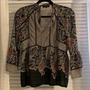 Lucky Brand 3/4 sleeve  blouse size small